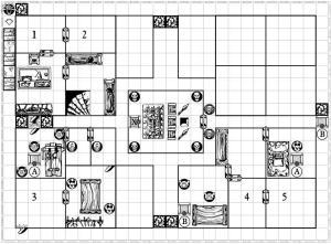 """Plano del dungeon para """"Una corona oxidada..."""""""
