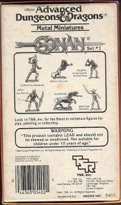 Contenido del set de Conan, de TSR.