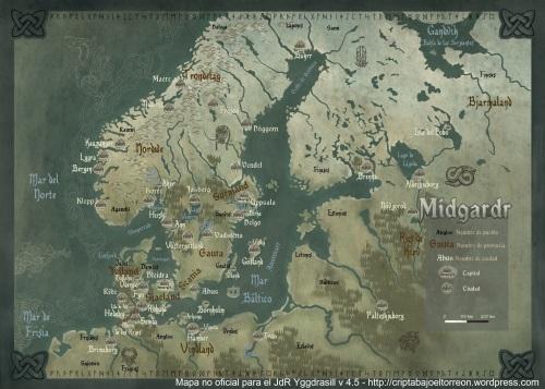 Mapa completado de Scandia vers. 4.5