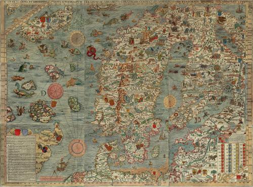 Scandia - Carta de navegación del siglo XVI