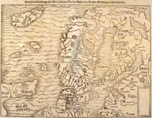 Scandia - Mapa medieval