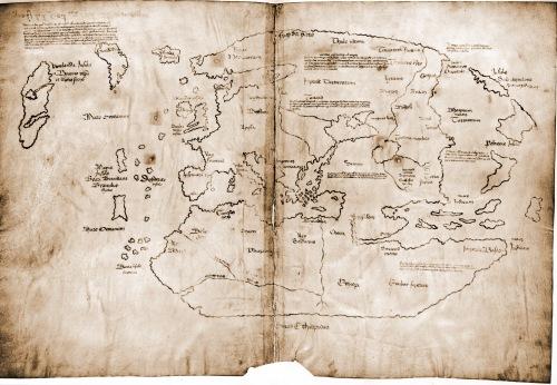 Europa y el mundo conocido - Mapa anglo