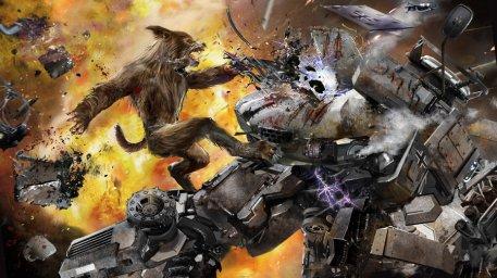 Si, Hombres lobo nazis vs. Mechas soviéticos