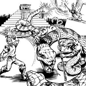 ¡Hombres serpiente! ¡Pirámides escalonadas! clásico tras clásico.