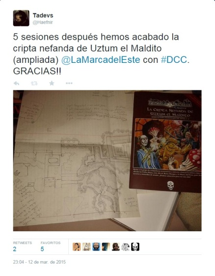 El tweet que mostraba la Photo-Finish, mapas old school y multitud de notas.