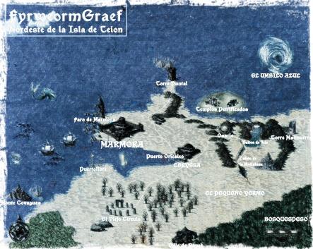 Uno de los mapas utilizados durante la aventura.