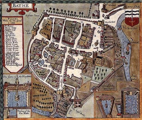 Mapa medieval de Bath