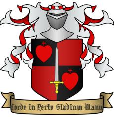 """Escudo de armas de Sir Bleordin de Norwich """"el Bravo"""""""